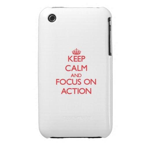 Houd kalm en concentreer me op ACTIE Case-Mate iPhone 3 Hoesje