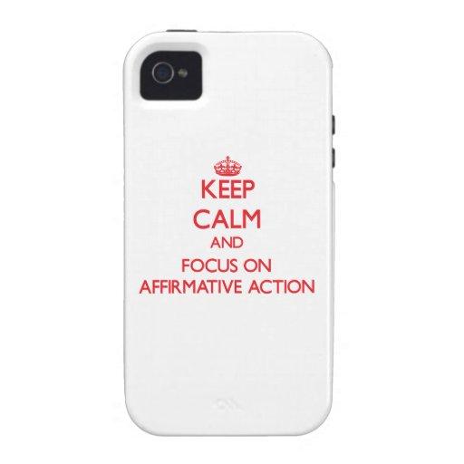 Houd kalm en concentreer me op BEVESTIGENDE ACTIE Case-Mate iPhone 4 Case