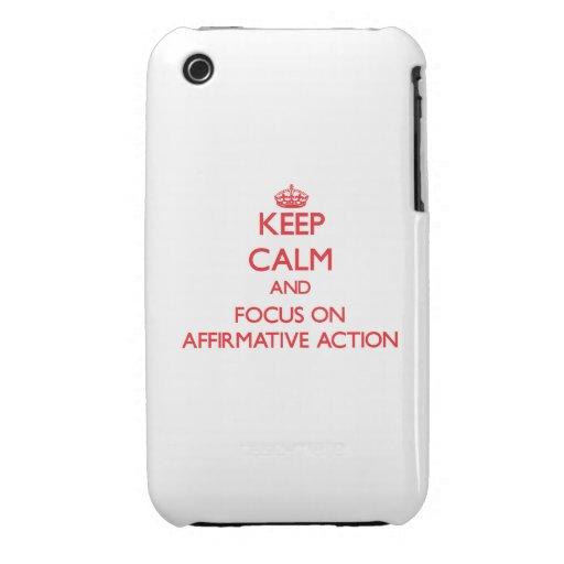 Houd kalm en concentreer me op BEVESTIGENDE ACTIE iPhone 3 Cases