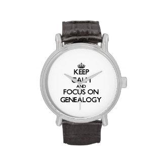Houd Kalm en concentreer me op Genealogie Horloges