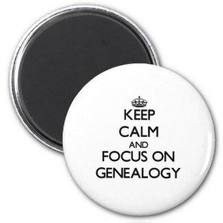 Houd Kalm en concentreer me op Genealogie Koelkast Magneetje