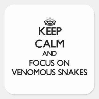 Houd kalm en concentreer me op Gifslangen