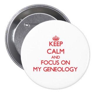 Houd Kalm en concentreer me op Mijn Genealogie Speldjes