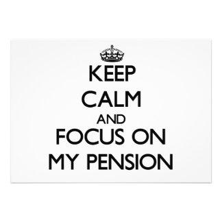 Houd Kalm en concentreer me op Mijn Pensioen