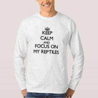 Houd Kalm en concentreer me op Mijn Reptielen T Shirt