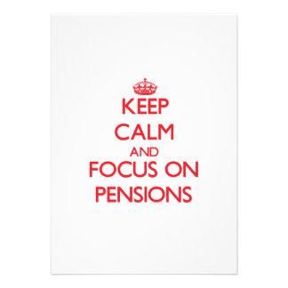 Houd Kalm en concentreer me op Pensioenen