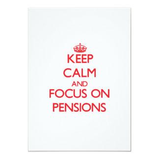 Houd Kalm en concentreer me op Pensioenen 12,7x17,8 Uitnodiging Kaart