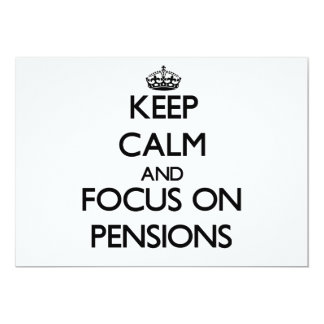 Houd Kalm en concentreer me op Pensioenen Persoonlijke Aankondiging