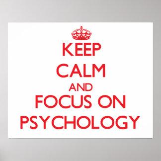 Houd Kalm en concentreer me op Psychologie Poster