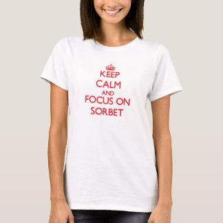Houd Kalm en concentreer me op Sorbet T Shirt