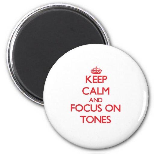 Houd Kalm en concentreer me op Tonen Koelkast Magneten