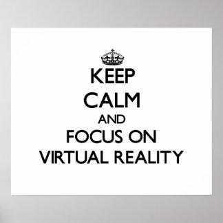 Houd Kalm en concentreer me op Virtuele Poster