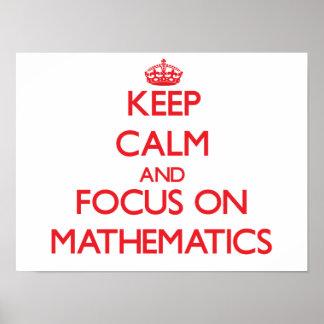 Houd Kalm en concentreer me op Wiskunde Poster