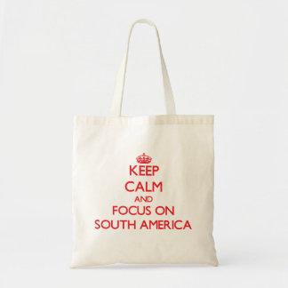 Houd Kalm en concentreer me op Zuid-Amerika Draagtas