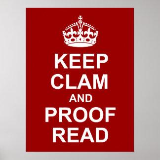 Houd Kalm en corrigeer Poster