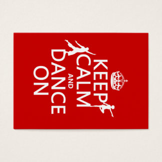 Houd Kalm en Dans (in alle kleuren) Visitekaartjes