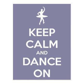 Houd Kalm en Dans op het Briefkaart van de