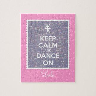 Houd Kalm en Dans op Lavendel Bokeh Puzzel