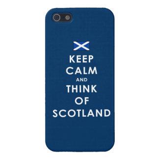Houd Kalm en denk aan iPhone 5 van Schotland iPhone 5 Hoesje