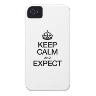 HOUD KALM EN DENK iPhone 4 HOESJE
