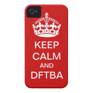 Houd kalm en DFTBA telefoondekking iPhone 4 Hoesje