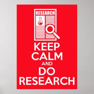 Houd Kalm en doe Onderzoek Poster