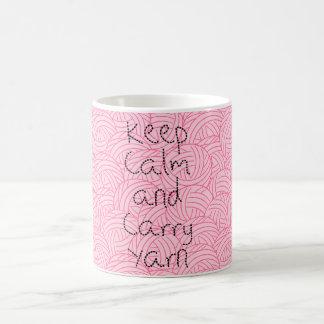 Houd Kalm en draag de Roze Klassieke Mok van het