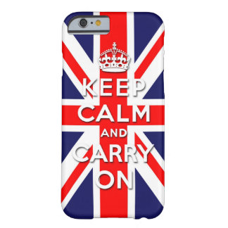 houd kalm en draag de vlag van Union Jack Barely There iPhone 6 Hoesje