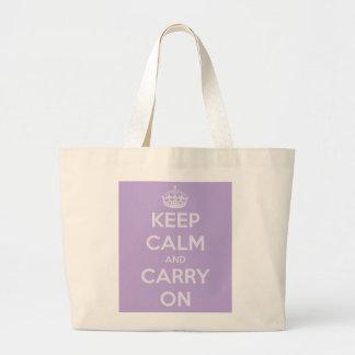 Houd Kalm en draag het JumboCanvas tas van de