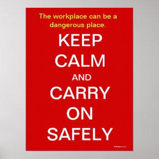 Houd Kalm en draag het Teken van de Gezondheid en  Poster