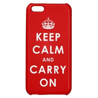 Houd Kalm en draag iPhone 5 Hoesje