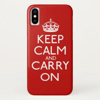 Houd Kalm en draag iPhone X Hoesje