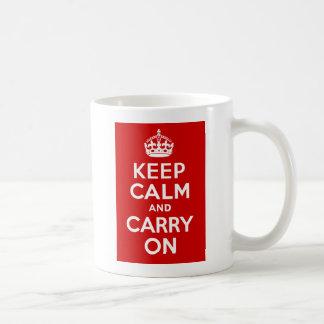 Houd Kalm en draag Koffiemok
