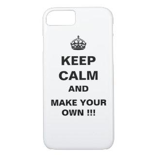 Houd Kalm en draag Kroon iPhone 7 Hoesje