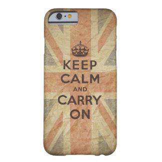 Houd Kalm en draag met Britse Vlag Barely There iPhone 6 Hoesje
