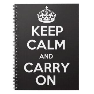 Houd Kalm en draag Notitieboekje Ringband Notitieboek