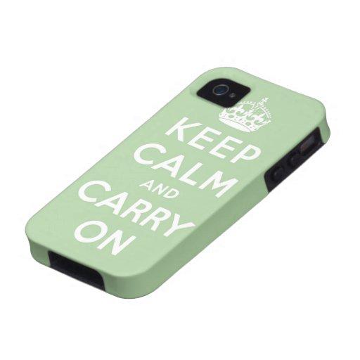 houd kalm en draag Origineel iPhone 4/4S Hoesje