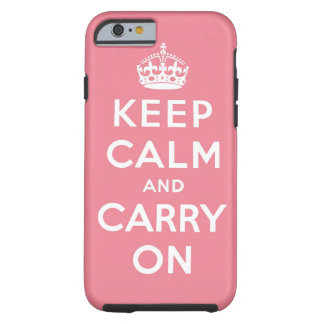 houd kalm en draag Origineel Tough iPhone 6 Hoesje
