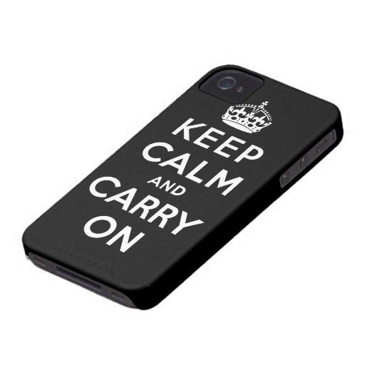 houd kalm en draag Origineel Case-Mate iPhone 4 Hoesjes
