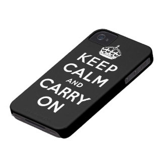 houd kalm en draag Origineel iPhone 4 Hoesje