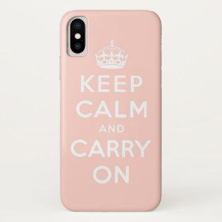 houd kalm en draag Origineel iPhone X Hoesje