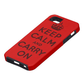 houd kalm en draag Origineel Tough iPhone 5 Hoesje