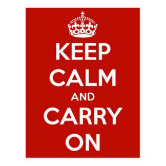 Houd Kalm en draag Rood Briefkaart