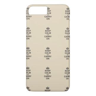 HOUD KALM EN DRAAG/Tan iPhone 8/7 Plus Hoesje