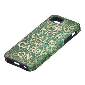 houd kalm en draag tough iPhone 5 hoesje