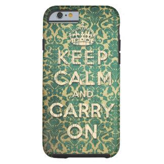 houd kalm en draag tough iPhone 6 hoesje