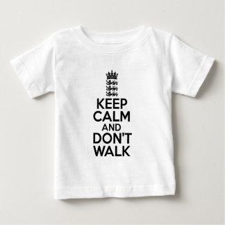 Houd kalm en draag veenmol baby t shirts