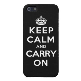 Houd Kalm en draag - Zwarte iPhone 5 Cases