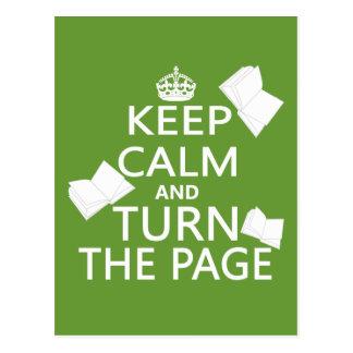 Houd Kalm en draai de Pagina Briefkaart