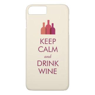 Houd Kalm en drink de Douane van de Wijn iPhone 7 Plus Hoesje